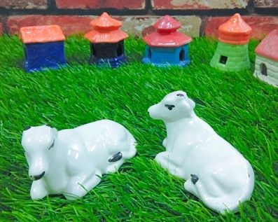 ceramic cow miniature